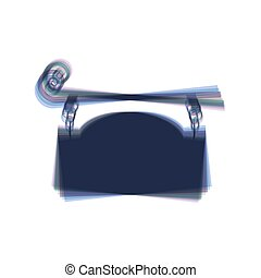細工された鉄, 印, ∥ために∥, 旧式, design., vector., カラフルである, アイコン, shaked, ∥で∥, 縦, 軸, ∥において∥, 白, バックグラウンド。, isolated.