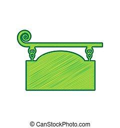 細工された鉄, 印, ∥ために∥, 旧式, design., vector., レモン, 落書き, アイコン, 白, バックグラウンド。, 隔離された
