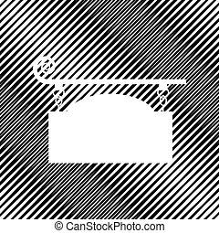 細工された鉄, 印, ∥ために∥, 旧式, design., vector., icon., 穴, i
