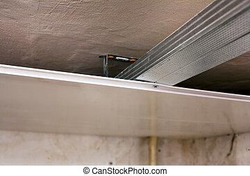 細節, ......的, 天花板, 安裝