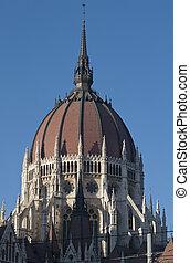細節, ......的, the, 建築物, ......的, the, 議會, 布達佩斯