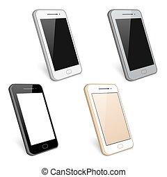 細胞, ベクトル, smartphone, 電話, コレクション