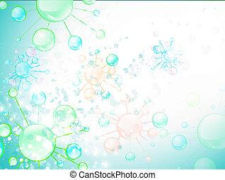 細胞, 抽象的, 微生物学, 背景