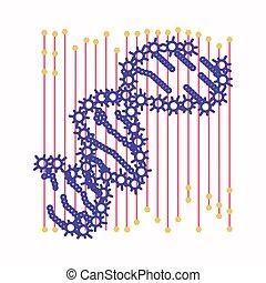 細胞, 抽象的, dna