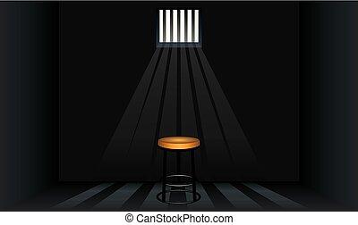 細胞, 腰掛け, 刑務所