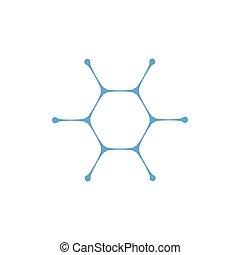 細胞, nano, ロゴ, medecine, concept., 分子, template., 水, ベクトル, ...