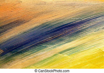 細部, から, painting., オイル, 上に, キャンバス