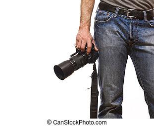 細部, の, カメラマン