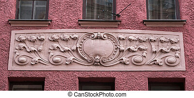 細部, の, 装飾, 古い, 家