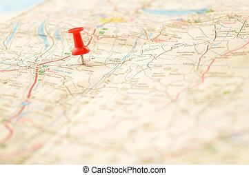 細部, ピンポイント, 地図