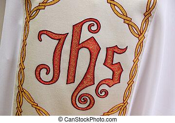 細部, 聖者, 姉妹, vestment, 印, de, 作られた, 慈善, vincent, ポール, ザグレブ, ...