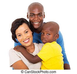 終わり, アメリカ人, アフリカ, の上, 家族