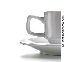 終わり, コーヒー, e, の上, カップ