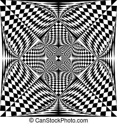終わり, 三角形, 保護, スペース, tridimensional, まっすぐにされた, 否定的, 旗, アラベスク...