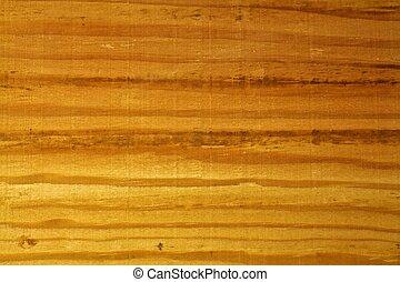 終わり, 木穀粒, の上, 板