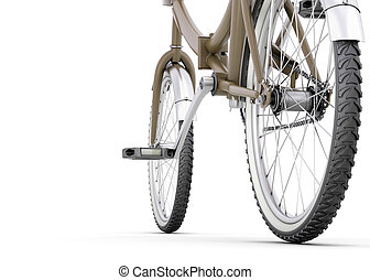 終わり, 白, 自転車, の上