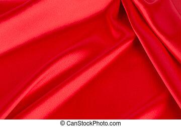 。, 終わり, 絹, 赤, ひだのある布