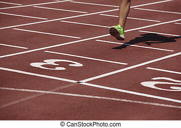 終わり, 足, 運動選手, 細部, 交差, 線, マレ