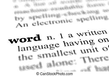 終わり, 辞書, 単語, の上