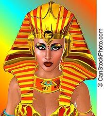 終わり, woman., 顔, の上, エジプト人
