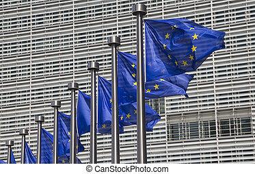 組合, ブリュッセル, 旗, ヨーロッパ