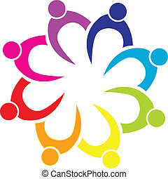 組合, ロゴ, チームワーク, ビジネス