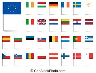 組合, 旗, ヨーロッパ
