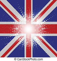 組合, 星が多い, 旗, ジャッキ, 背景