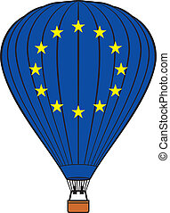 組合, balloon, ヨーロッパ, 熱気