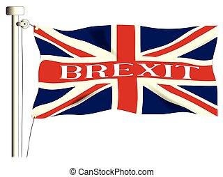 組合, brexit, 旗, ジャッキ