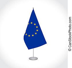 組合, eu, 旗, ヨーロッパ