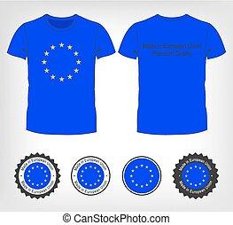 組合, tシャツ, 旗, ヨーロッパ