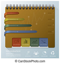 組織しなさい, ビジネス, ノート, infographic, デザイン, テンプレート