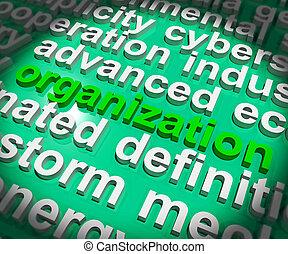 組織しなさい, 手段, システマティックに, -, イラスト, 構成, 手配しなさい, ∥あるいは∥, 3d
