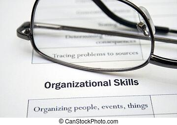 組織, 技能