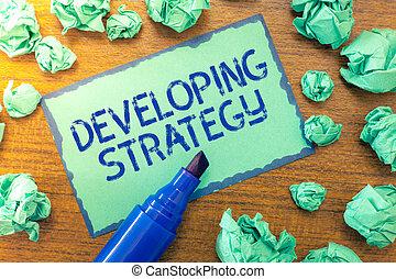 組織, 概念, 成長, プロセス, テキスト, 目的, リーチ, 意味, strategy., 手書き, 変化する