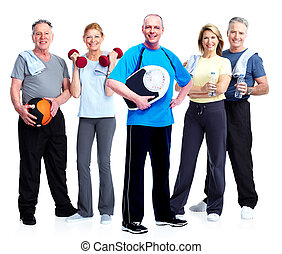 組, ......的, 健身, 人們。