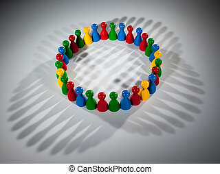組, ......的, 多彩色, 人們, 到, 代表, 社會, 网絡, 差异, 多文化, 社會, 隊 工作, 親密無間