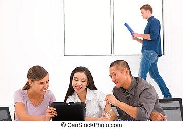 組, ......的, 多种多樣, 商業界人士, 在, 辦公室