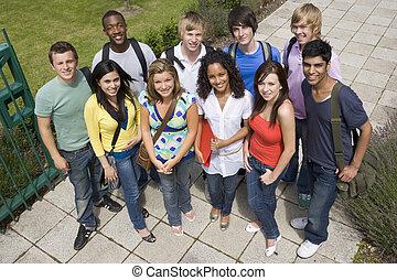 組, ......的, 大學生, 上, 校園