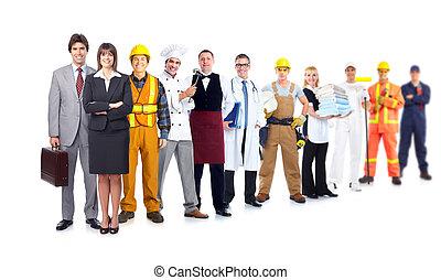 組, ......的, 工業, workers.