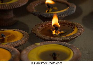 組, ......的, 燃燒, 蜡燭