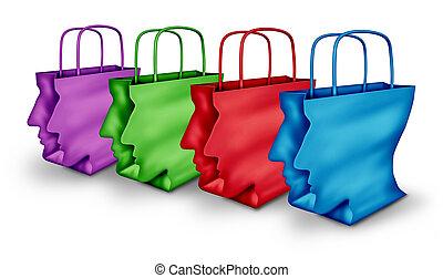 組, 購物