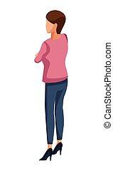 経営者, 女性の背部, avatar