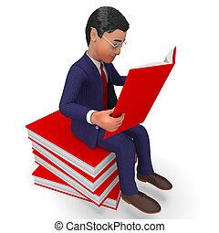 経営者, 発展しなさい, faq, ∥示す∥, 本, ビジネスマン, 読書