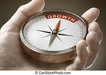 経済学, 達成, concept., business., mindset, 成長