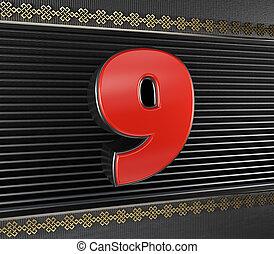結び目, 無限, 9, 数, 赤