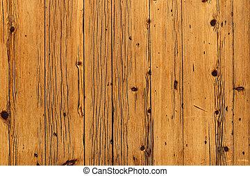 結び目, 茶色の 背景, 板, 木製である