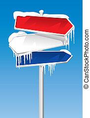 結冰, 路標, (illustration)