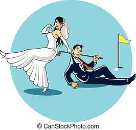 結婚されている, 得なさい, ゴルファー